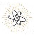 atom symbol vintage label grunge textured retro vector image vector image