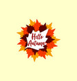 autumn leaf vector image