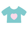 baby t-shirt and textile clothes vector image vector image