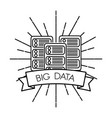 big data technology vector image