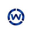 blue letter w logo designs inspiration isolated vector image vector image