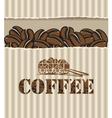 box coffee vector image