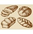 Bread set hand drawn vector image