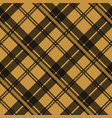 brown tartan plaid scottish fabric texture check vector image
