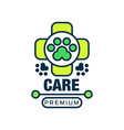 care premium logo template design label for vector image