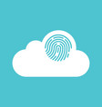 cloud computing security concept flat design vector image vector image