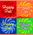 colorful banners set for holi spring festival vector image