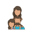 colorful caricature faceless half body family with vector image vector image