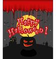 Dark sillhouettes Happy Halloween vector image vector image