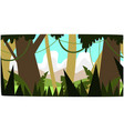 deep tropical jungle background tropical vector image vector image