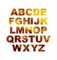 Design elements - gold 3D font Set vector image vector image