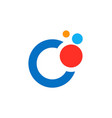 dot colorful technology logo vector image