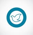 dove icon bold blue circle border vector image