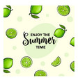 enjoy the summer time banner postcard design with vector image vector image