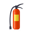 fire extinguisher isolated vector image vector image