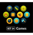 Flat icons set 14 - game collection vector image vector image