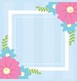 flowers frame decoration banner vector image