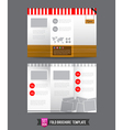 Fold Brochure background template 0004 vector image