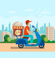 food delivery service flat vector image vector image
