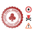 gambling danger trends seal with dirty texture vector image vector image