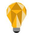geometric lightbulb icon vector image vector image