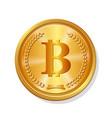 golden bitcoin coin realistic crypto 3d symbol vector image