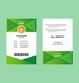 green id card 18 vector image vector image
