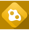 icon of Scrambled Eggs with a long shadow vector image vector image