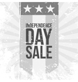 Independence Day Sale flat vintage Label vector image
