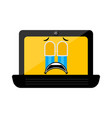 isolated crying laptop emote vector image vector image