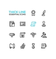 Law and Justice - Thick Single Line Icons Set vector image vector image
