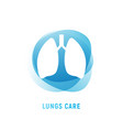 lung human icon respiratory system healthy lungs vector image vector image