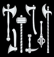 medieval cold steel arms collection vector image vector image