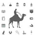 muslim on camel icon ramadan kareem eid mubarak vector image vector image