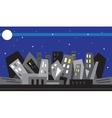 Night city - vector image vector image