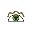 Original Stylized Eye As Symbol For Various vector image vector image