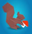 paper origami squirrel vector image vector image