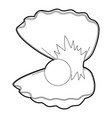pearl shell icon outline vector image vector image