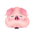 piggy greeting character for chinese new year vector image vector image