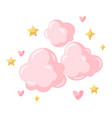 pink clouds vector image