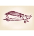 plane hand drawn llustration realistic sketch vector image vector image