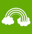 rainbow lgbt icon green vector image vector image