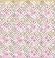 repeating diagonal square pattern - mosaic tile vector image vector image