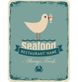 Retro banner for a seafood restaurant vector image