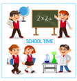 School time vector image vector image