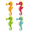 Sea horse cartoon vector image vector image