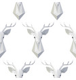 seamless pattern with polygonal deer head vector image vector image