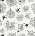 seamless pattern with spiders on a white vector image