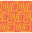 Seamless pop art pattern repeating doodle LOVE vector image vector image
