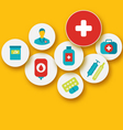 set colorful medical icons for your design vector image